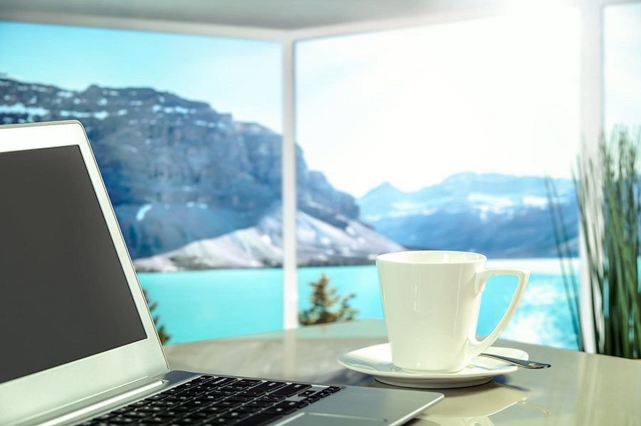 laptop-coffee-mountain-scenelaptop-coffee-mountain-scene