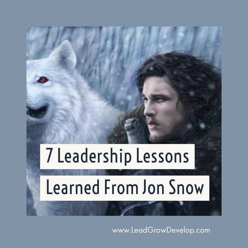 leadership lesson jon snow