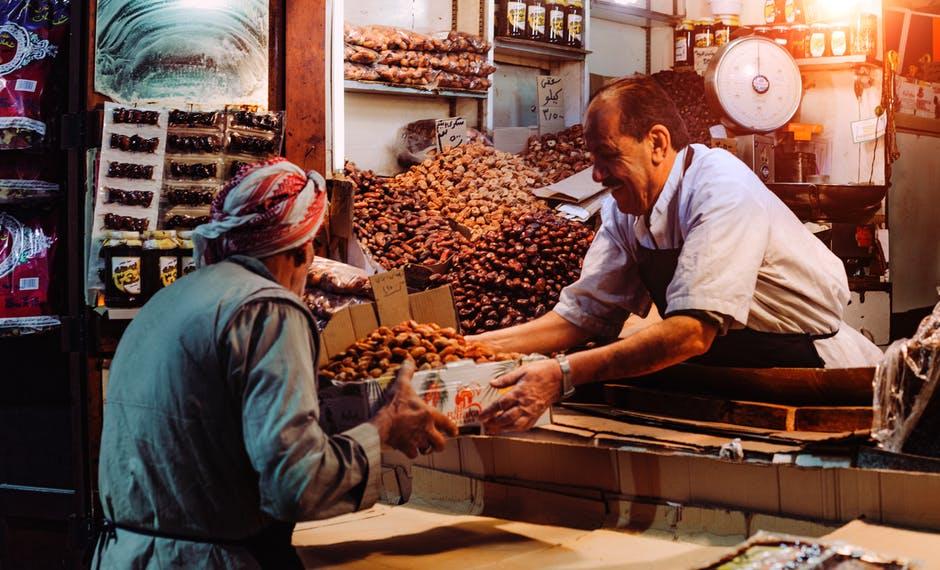 grocer-selling-food