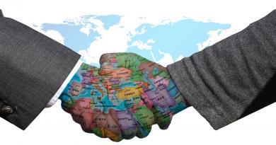 handshake with globe
