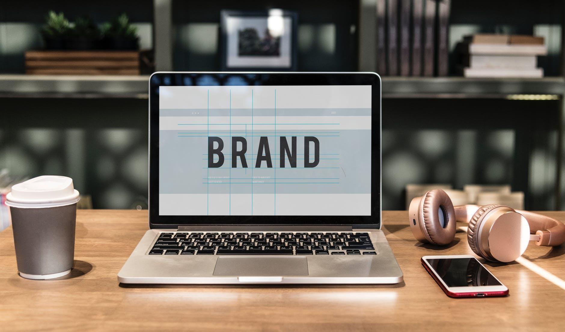 brand on grey laptop