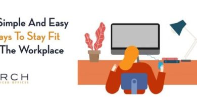 stay fit in workplace