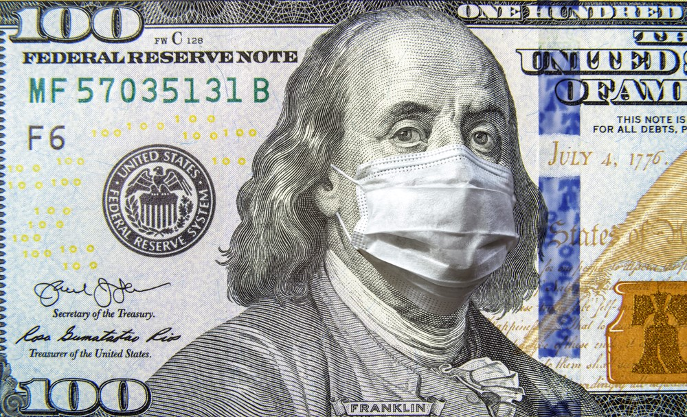 100 bill-franklin with facial mask