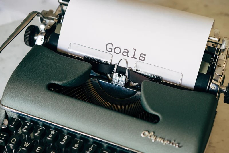 goals-writing goals-typewriter