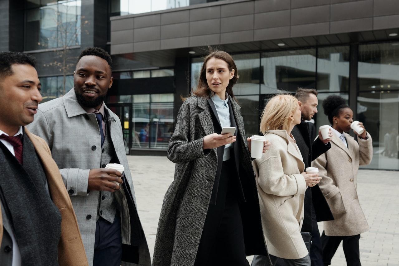coworkers-team-outdoor meeting