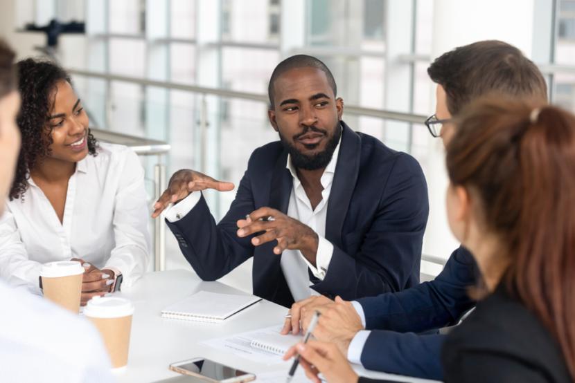 Meeting-work meeting-Business people-team