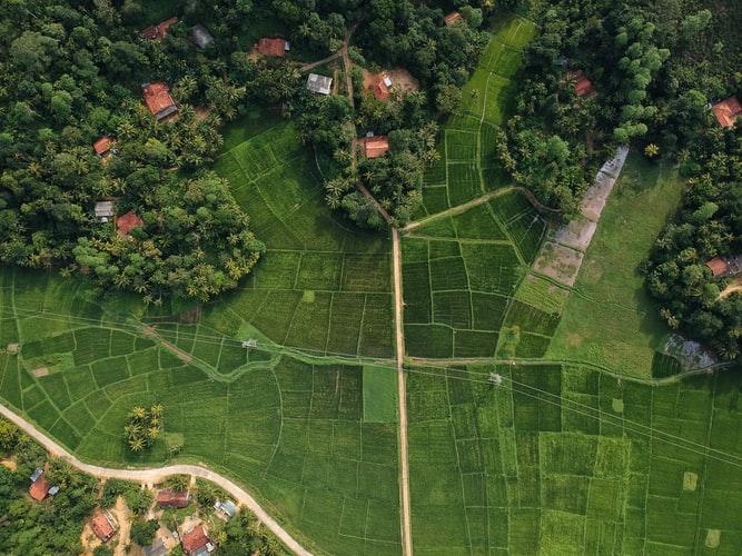 aerial shot-ground